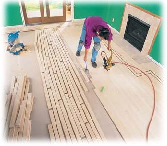 pokládání parketových podlah